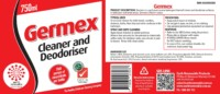 Germex spray bottle labels